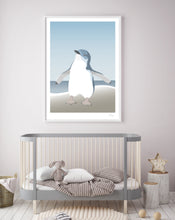 Load image into Gallery viewer, Hansby Design Blue Penguin Print Nursery
