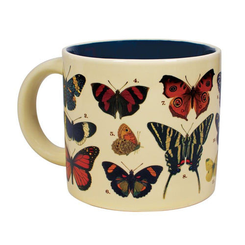 The Unemployed Philosophers Guild butterfly theme disappearing mug