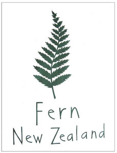 Cecily silver fern tea towel