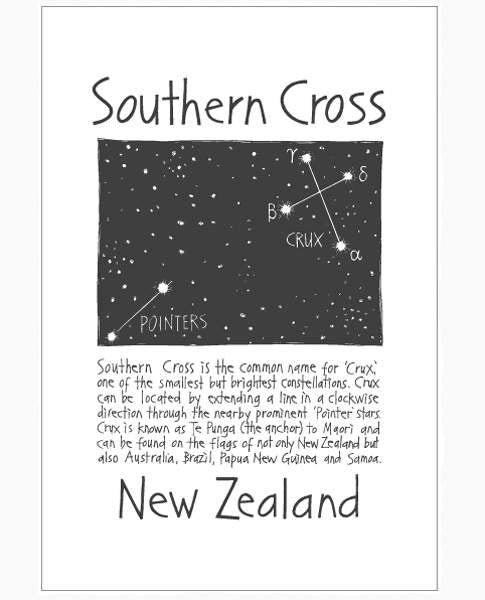 Cecily southern cross tea towel
