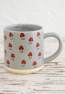 Ceramic mug bungalow mushrooms