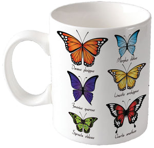 Colour change butterfly mug