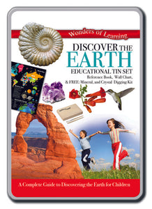 Discover Earth educational tin set