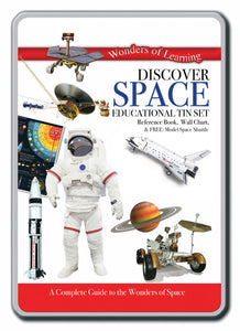 Discover space educational tin set
