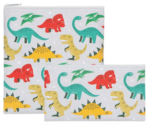 Dandy dinos 2 piece reusable snack bags