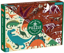 Load image into Gallery viewer, Dinosaur theme double sided 100pc puzzle