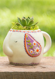 Ceramic Mug - Folk Elephant