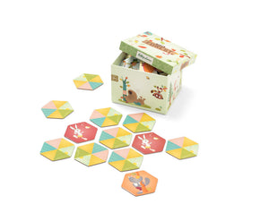 Forest theme memory game box and tiles
