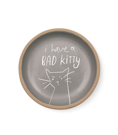 Bad kitty mini stoneware trinket tray