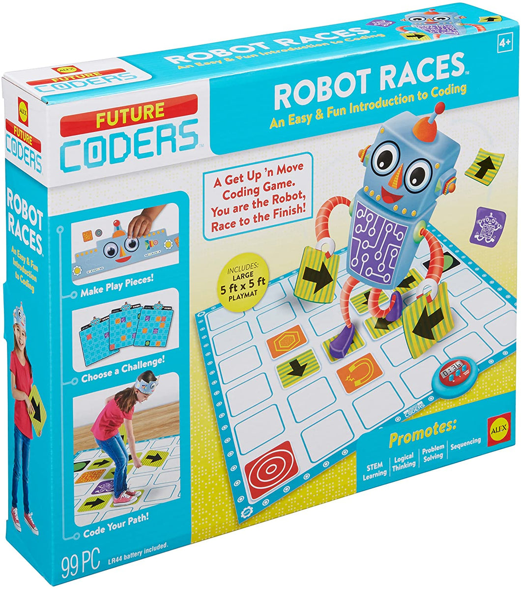 Future coders robot races game