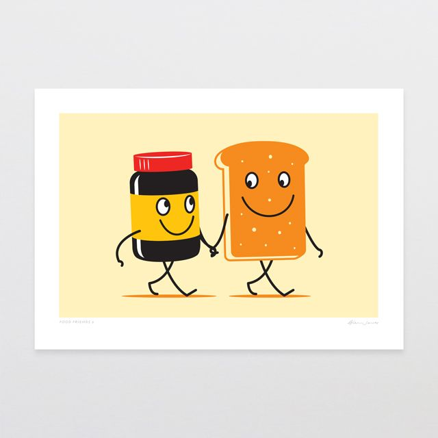 Glenn Jones marmite and toast art print