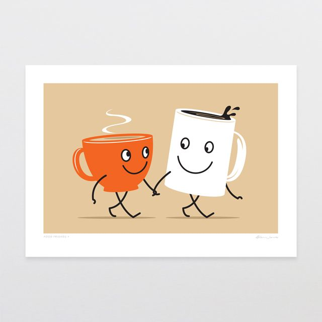 Glenn Jones tea and coffee art print