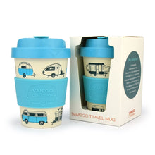 Load image into Gallery viewer, Bamboo Pale Blue Travel Mug