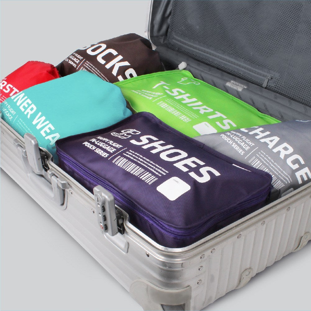 Luggage pouches set of 6