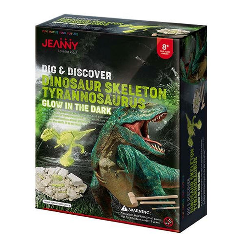 Jeanny dig and discover dinosaur skeleton trex box set