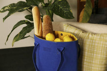 Load image into Gallery viewer, Kōwhai Blue & Yellow Shoulder Tote Bag