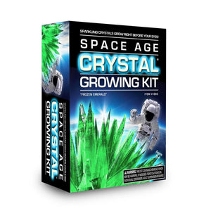 Space age crystal growing kit, frozen emerald