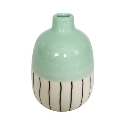 Small blue lilah vase 11 cm blue, white and black