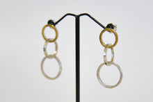 Load image into Gallery viewer, Lucia Araoz - Three Loops Interlaced Silver and Gold Earrings