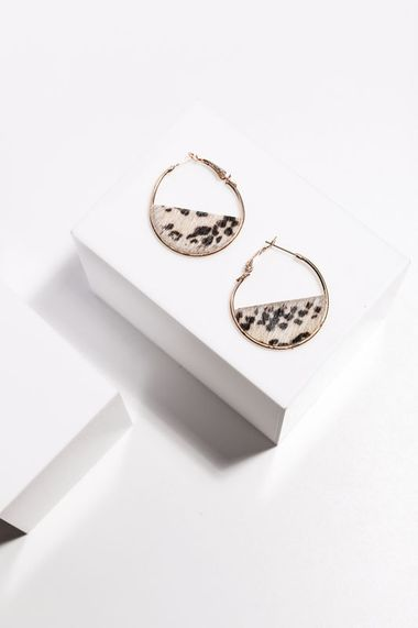 Lulu earrings snakeskin print hoops
