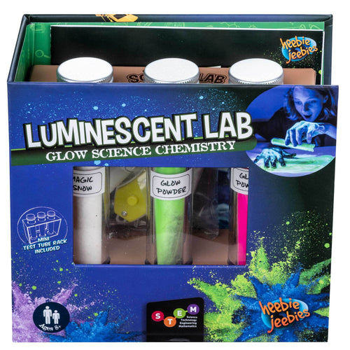 Luminescent lab glow science chemistry set