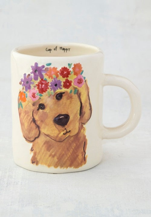 Mug happy prairie retriever painted ceramic