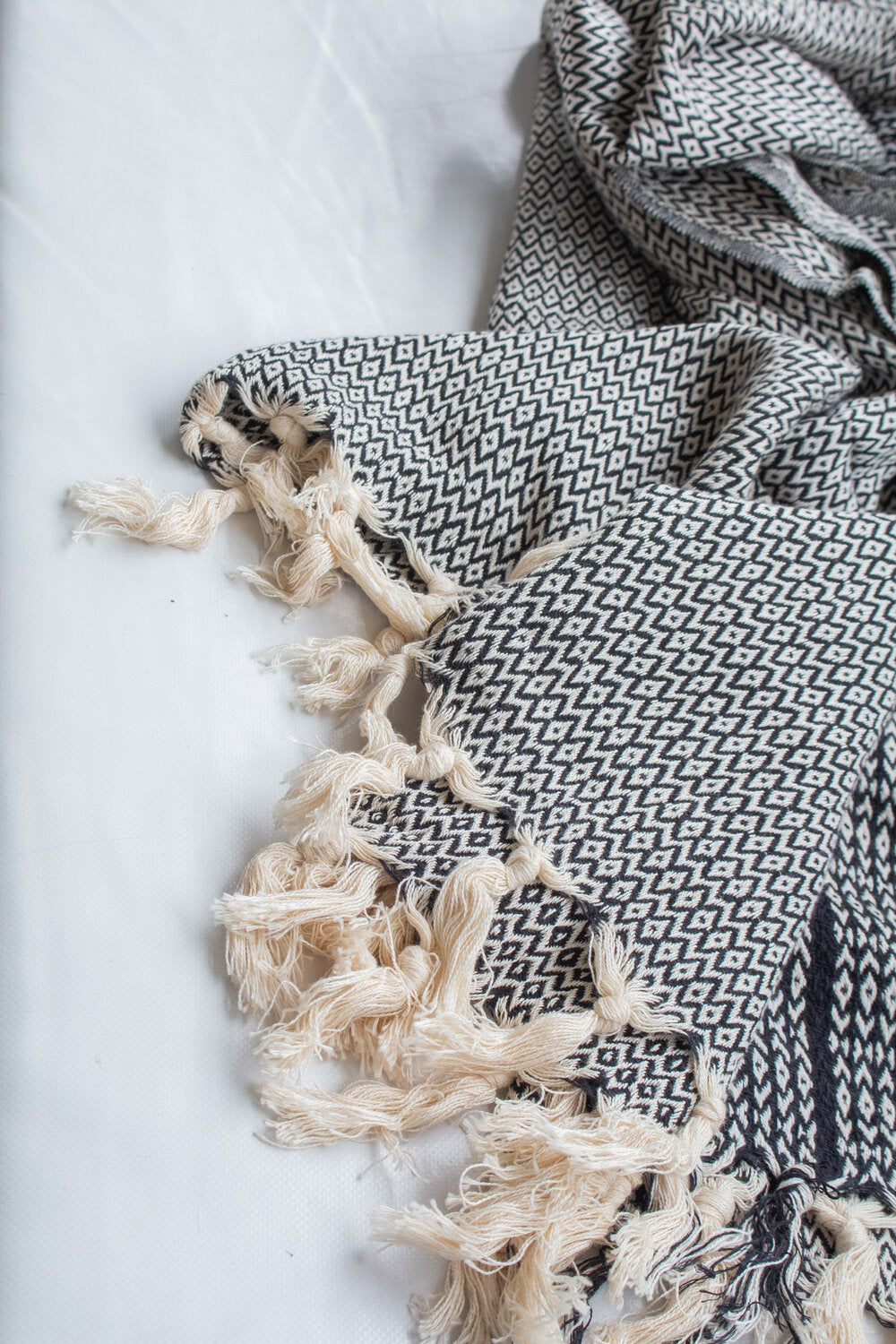 Oatmeal Roma Throw Midnight