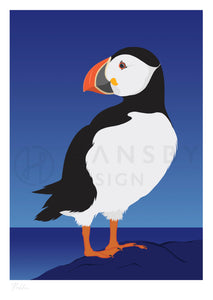 Hansby Design puffin art print