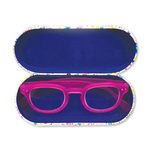 Rachel Ellen looking fabulous glasses case interior