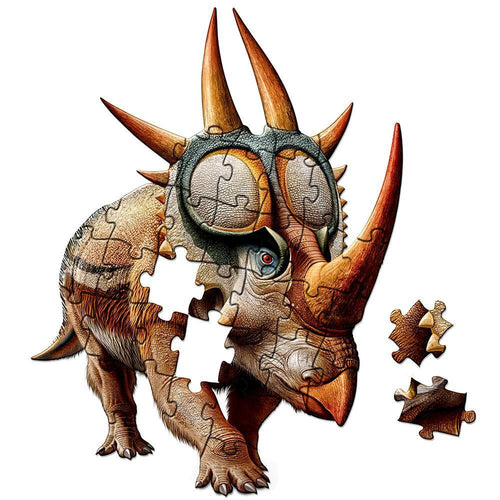 Rubeosaurus shaped floor puzzle