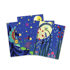 Djeco scratch cards full moon contents