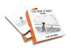 The New Yorker set of 4 cats coasters