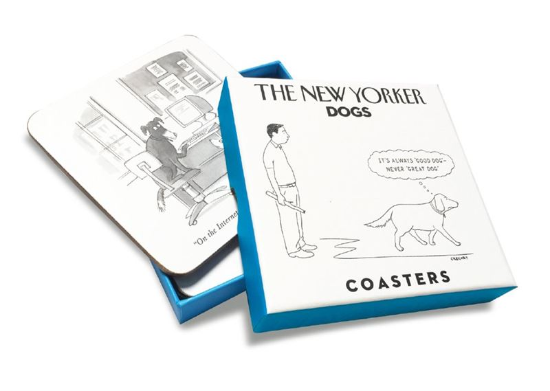 The New Yorker set of 4 dogs coasters box set
