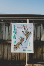 Load image into Gallery viewer, Map of NZ Tea Towel