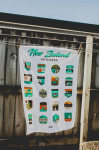 NZ Destinations Tea Towel