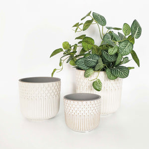 Tuscan Planter White Large 16cm
