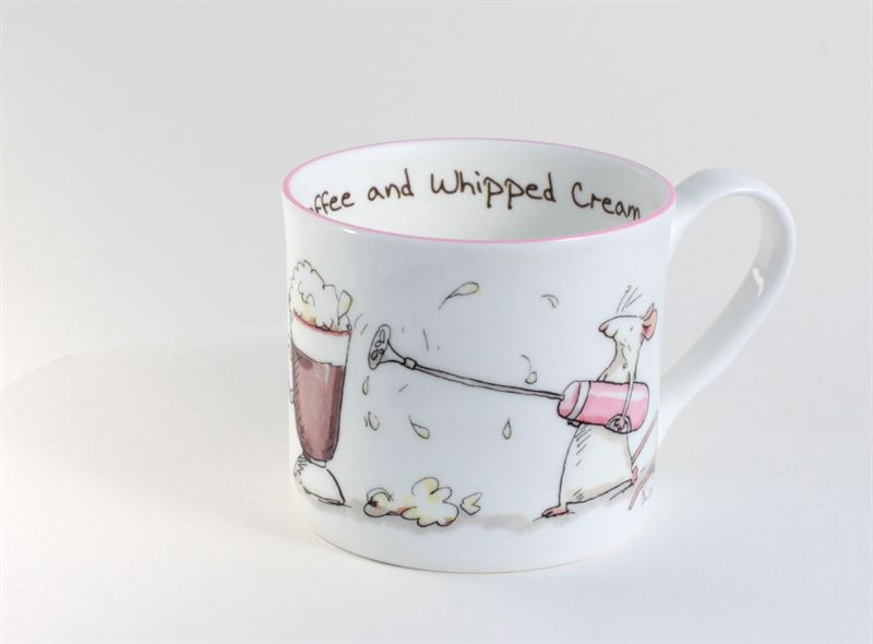 Two bad mice coffee and whipped cream small mug