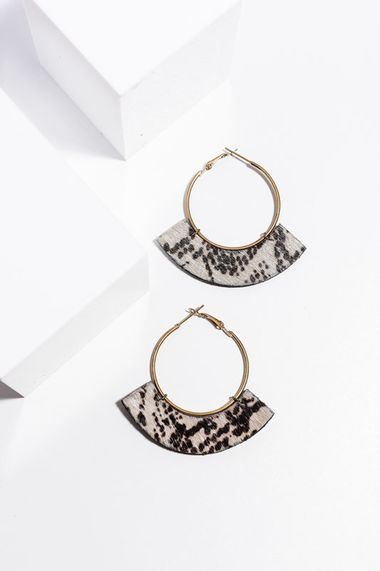Uma earrings snakeskin print