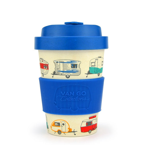 Van Go Collections winter blue caravan travel mug