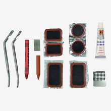 Load image into Gallery viewer, Bicycle tyre repair kit contents