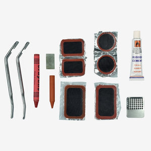 Bicycle tyre repair kit contents