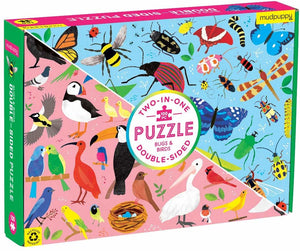blue and pink double sided 100pc puzzle