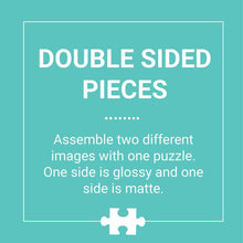 Load image into Gallery viewer, Bugs and Birds Double Sided Puzzle 100 piece