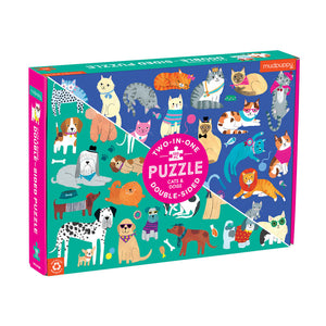 Dogs and cats double sided 100pc puzzle