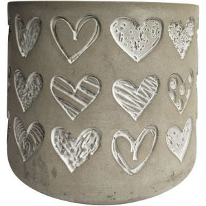 Love Heart Grey Planter