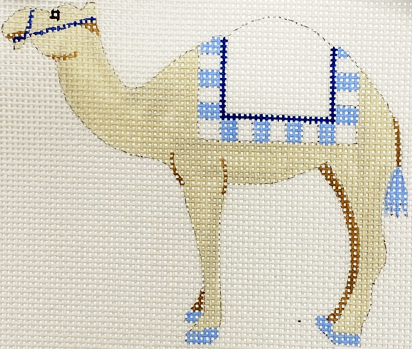 Blue & White Camel With Stitch Guide