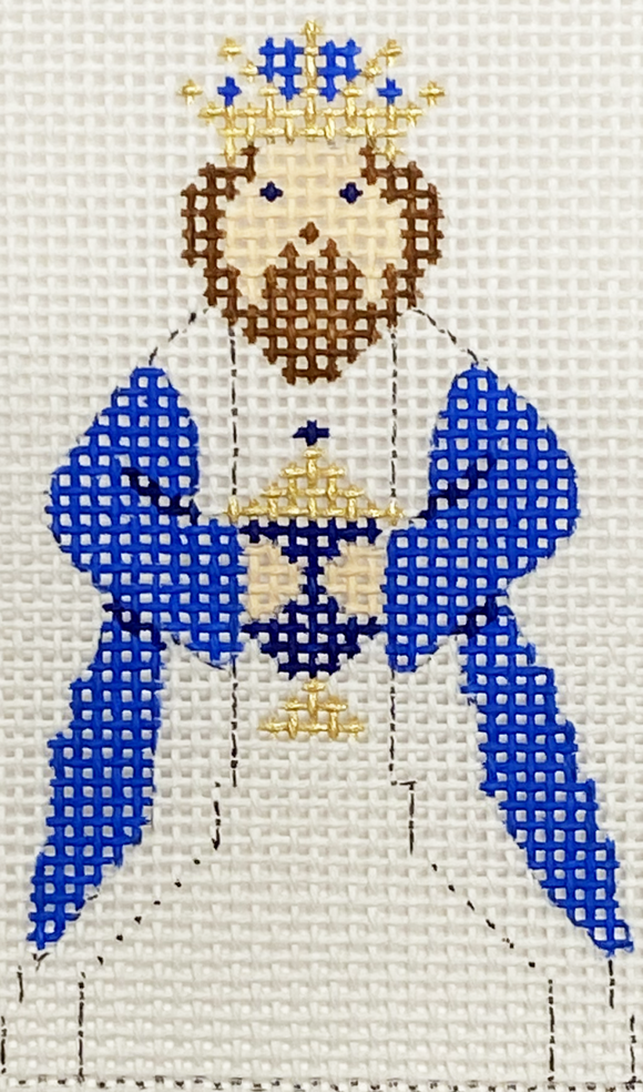 Blue & White King III With Stitch Guide