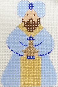 Blue & White King I With Stitch Guide