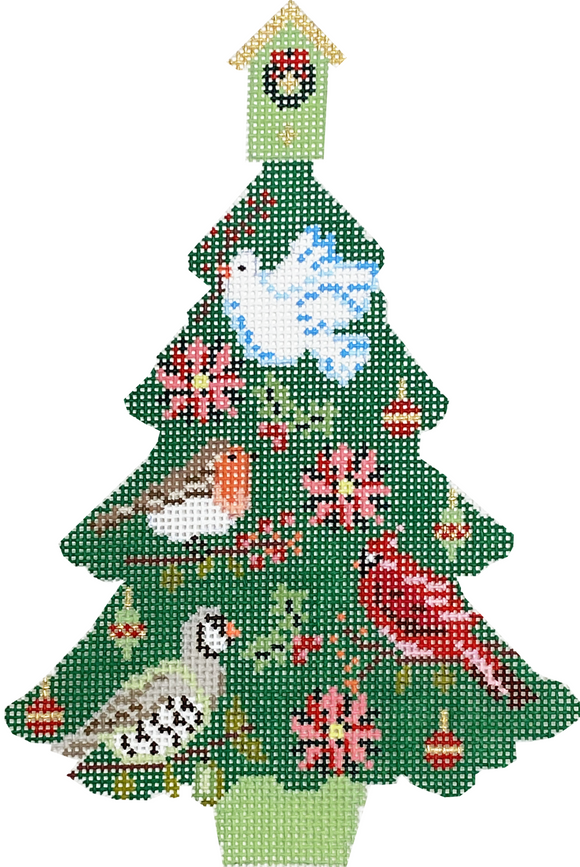 Christmas Bird Tree