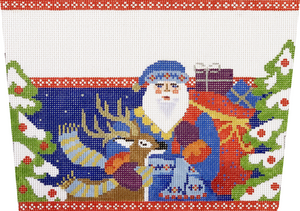 Folk Santa with Deer Cuff